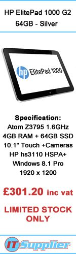 HP ElitePad 1000 G2 64 GB - Silver